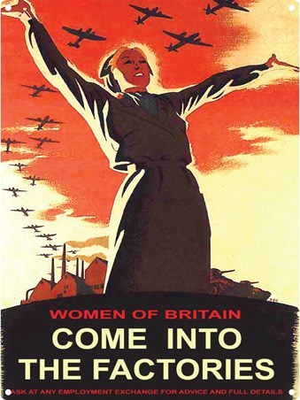 Framed Women of Britain Come Into the Factories - British Propaganda