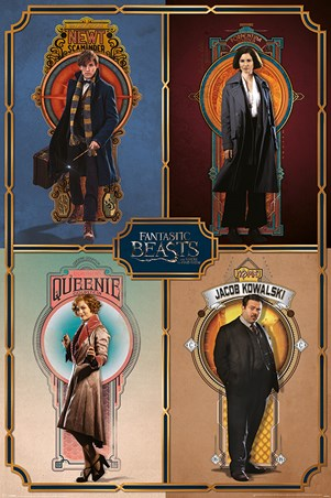 Framed Cast Main Characters - Fantastic Beasts