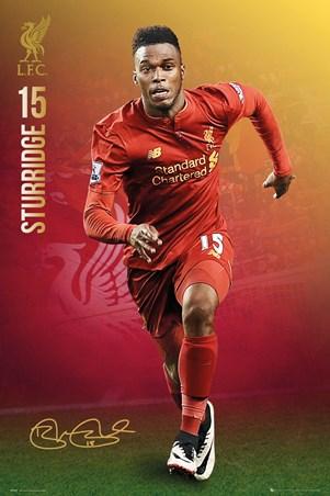 Framed Sturridge 2016/17 - Liverpool FC
