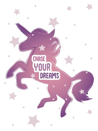 Framed Chase Your Dreams - Motivational Unicorn