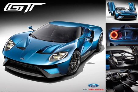Blue Super Car - Ford GT 2016