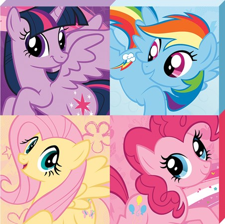 Framed Four Colourful Friends - My Little Pony