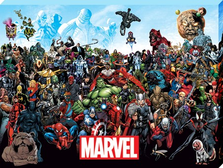 A collage Of Characters - Marvel Universe