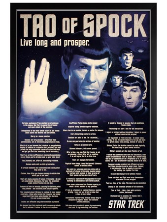 Framed Black Wooden Framed Tao Of Spock - Star Trek