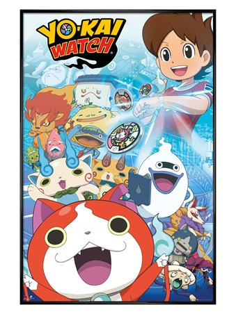 Gloss Black Framed Nate And Friends - Yo-Kai Watch