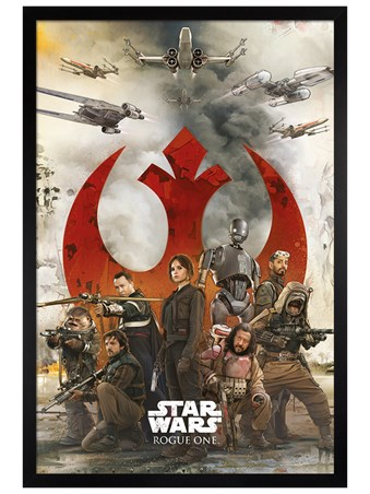 Black Wooden Framed Rebels - Star Wars Rogue One