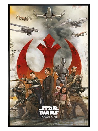 Framed Gloss Black Framed Rebels - Star Wars Rogue One