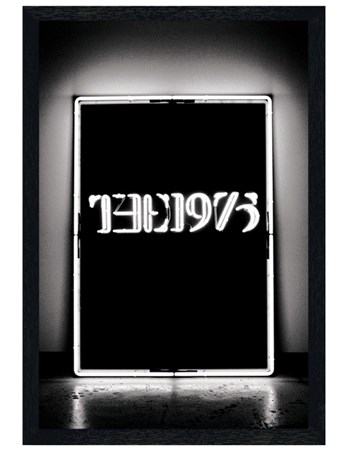 Black Wooden Framed Album Cover - The 1975