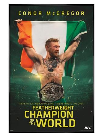 Gloss Black Framed UFC Champ - Conor McGregor