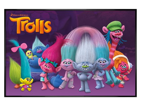 Gloss Black Framed Characters - Trolls