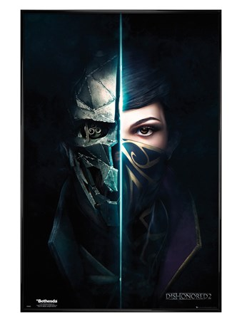 Gloss Black Framed Split Faces - Dishonored 2