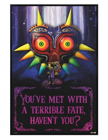 Gloss Black Framed Terrible Fate - The Legend Of Zelda