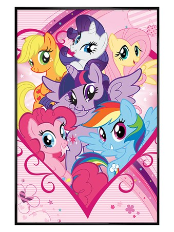 Gloss Black Framed Forever Friends - My Little Pony
