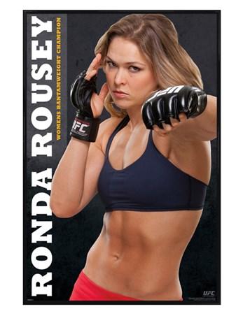 Gloss Black Framed Ronda Rousey - UFC