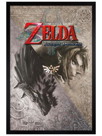 Black Wooden Framed Twilight Princess - Legend Of Zelda