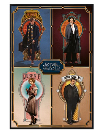 Gloss Black Framed Main Characters - Fantastic Beasts and Where to Find Them