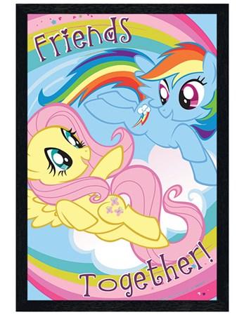 Black Wooden Framed Together Poster - My Little Pony Friends