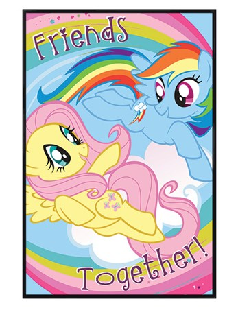Gloss Black Framed Friends Together Poster - My Little Pony