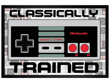 Black Wooden Framed Classically Trained - Nintendo console