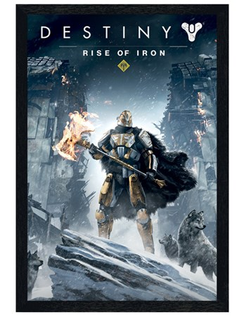 Black Wooden Framed Rise Of Iron - Destiny