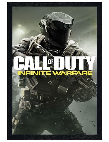 Black Wooden Framed Infinite Warfare - Call Of Duty