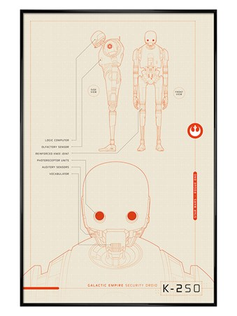 Gloss Black Framed K-2S0 Plans - Star Wars Rogue One