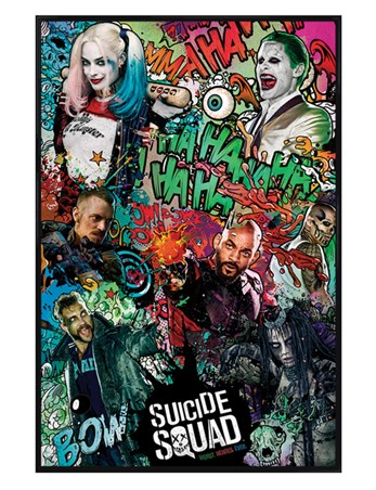 Gloss Black Framed Crazy Montage - Suicide Squad
