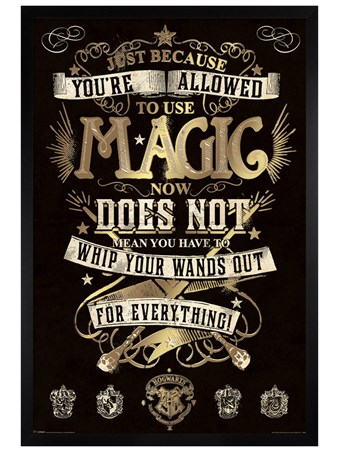 Black Wooden Framed You're Allowed To Use Magic - Harry Potter