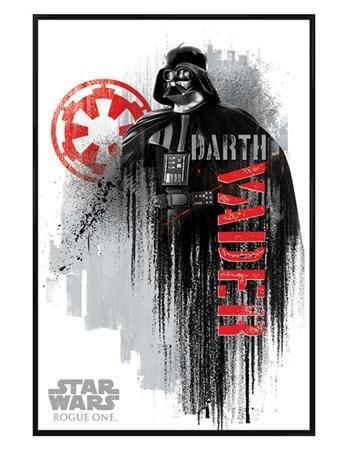 Gloss Black Framed Darth Vader Grunge - Star Wars Rogue One