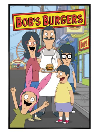 Gloss Black Framed Sizzling Success - Bob's Burgers