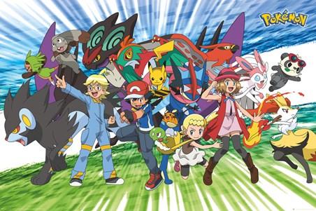 Framed Travelling Party - Pokémon
