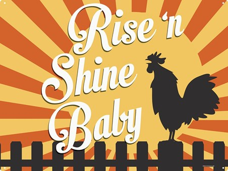 Framed It's A Brand New Day - Rise 'n Shine Baby