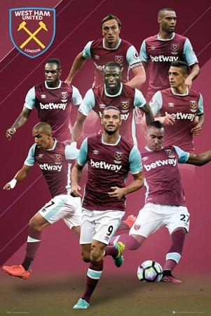 Framed 2016/17 Players - West Ham FC