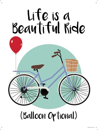 Balloons Are Optional - Life Is A Beautiful Ride
