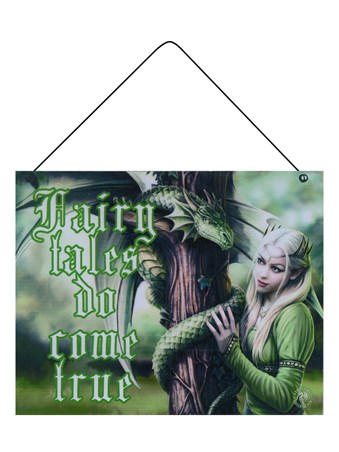 Anne Stokes Fairy Tales Do Come True Tin Sign -