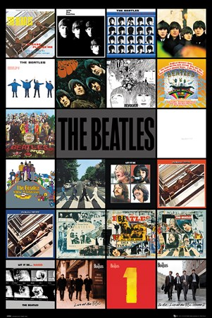 Framed Albums - The Beatles
