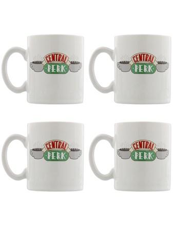 Framed Central Perk - Friends Four Mug Espresso Set