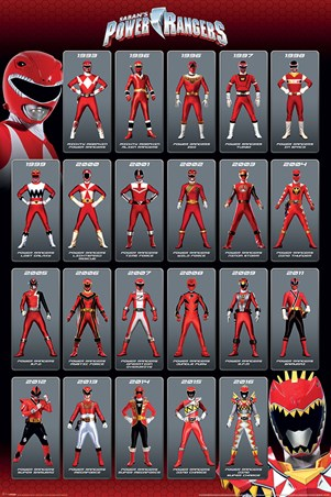 Framed Red Ranger Evolution - Power Rangers