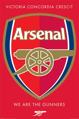 We Are The Gunners Crest - Arsenal FC