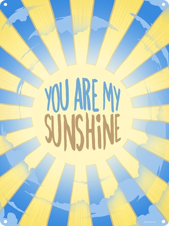 Framed Beaming Sun - You Are My Sunshine