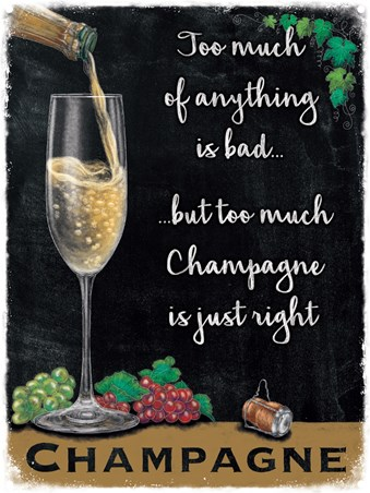 Champagne Is Just Right - Champagne and Grapes