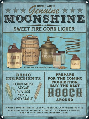 Sweet Fire Corn Liquer - Genuine Moonshine