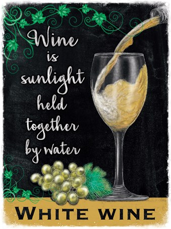 Framed Wine Is Sunlight Held Together By Water - White Wine