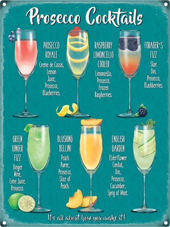 Framed Fabulous Fizzy Creations - Prosecco Cocktails