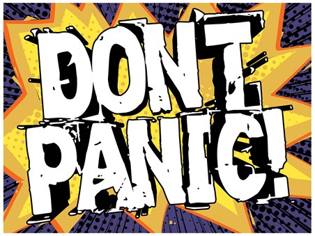 Don't Panic - Pop Art Style