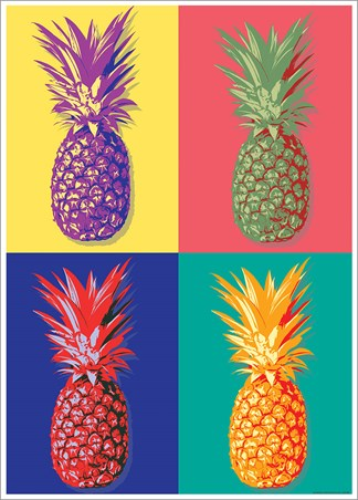 Taste of the Tropics - Pop Art Pineapple