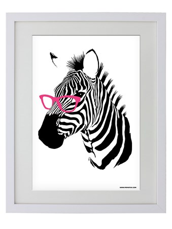 Framed This Zebra Has Sass - Clever Stripes