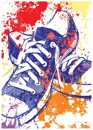 Framed Psychedelic Sneakers - Alternative Kicks