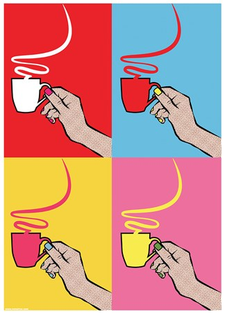 How Many Sugars? - A Steamy Pop Art Brew