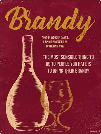 Framed Aged In Wooden Casks - Drink Other People's Brandy